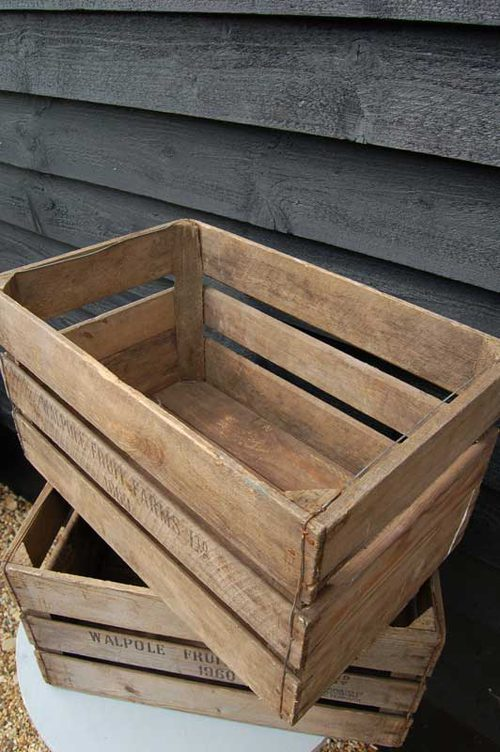 Antiques atlas a vintage wooden apple crate for How to make apple crates