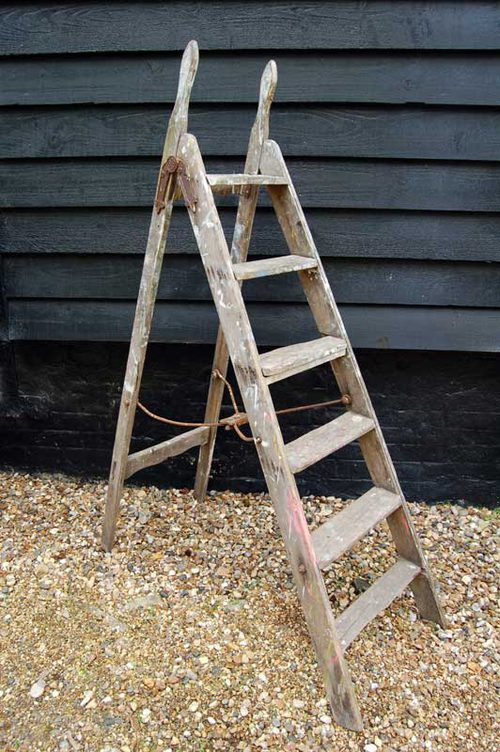 Antiques Atlas - A Vintage Wooden Step Ladder