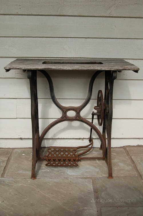 antique sewing machine tables