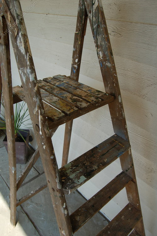 Antiques Atlas - Vintage Wooden Step Ladder