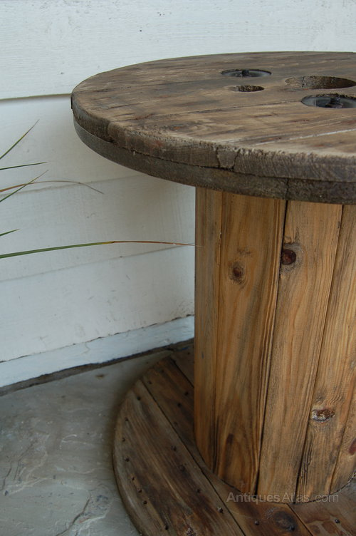 Wooden Cable Drum Coffee Table ...