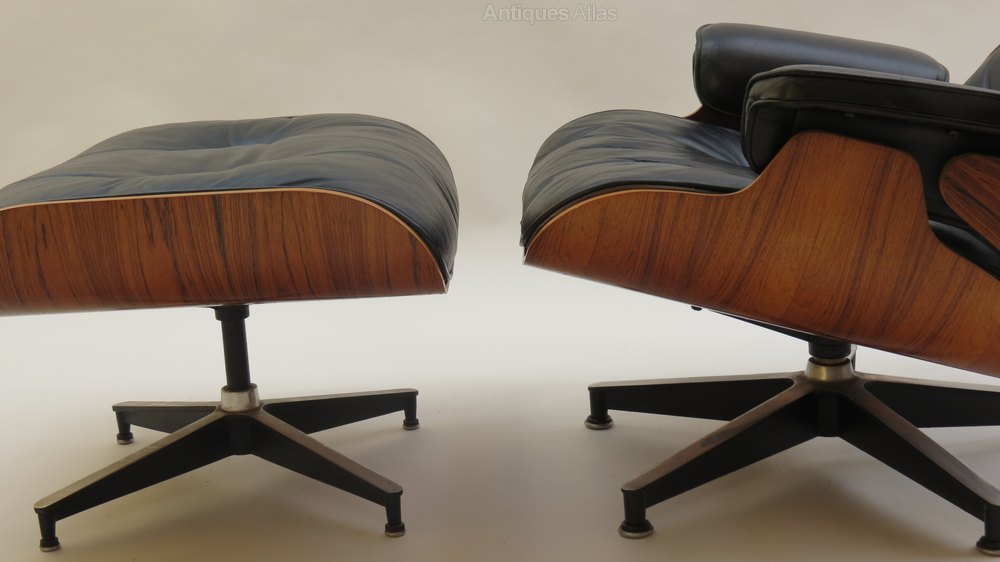 Antiques atlas eames lounge chair and ottoman - Eames lounge chair occasion ...