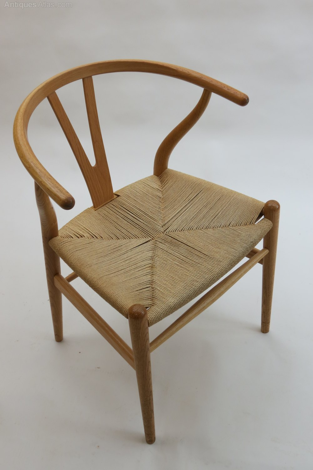 Antiques Atlas Hans Wegner Wishbone Chair In Oak