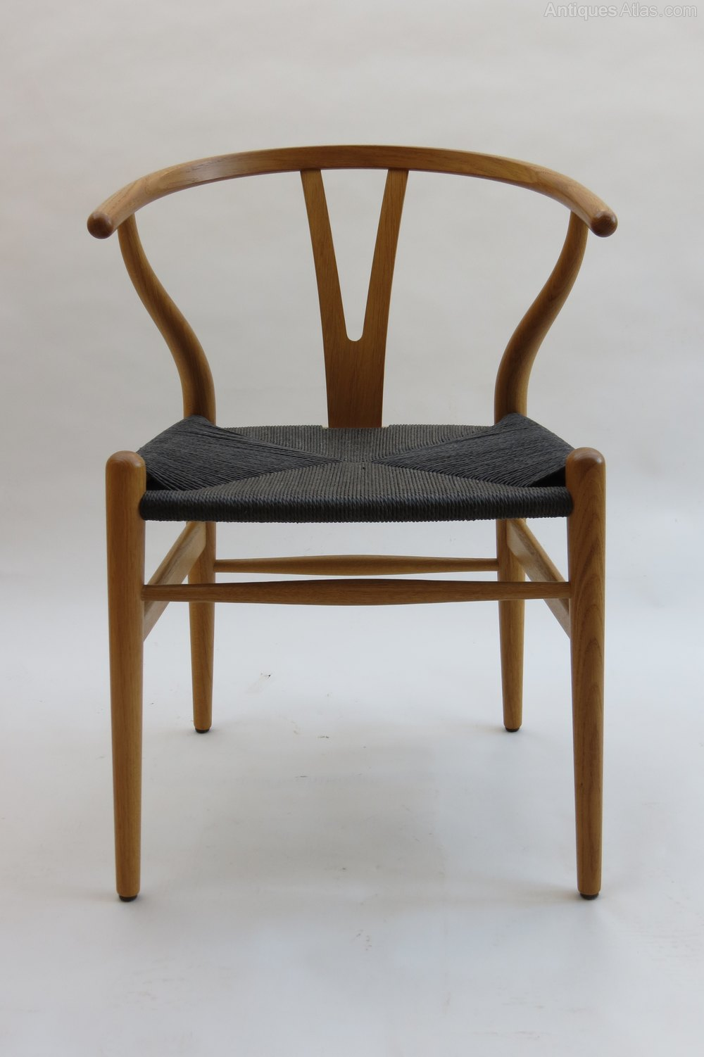 antiques atlas set of 8 wishbone chairs by hans j wegner. Black Bedroom Furniture Sets. Home Design Ideas