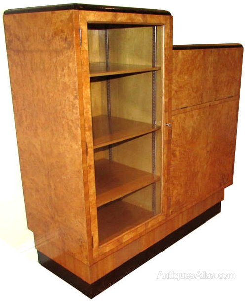Art deco burr walnut bureau antiques atlas for Deco bureau
