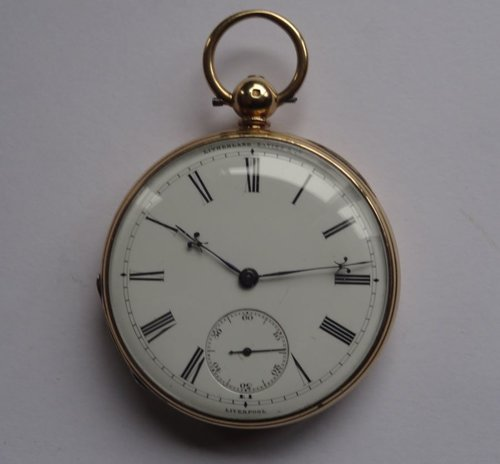 Antiques Atlas 18ct Gold Duplex Pocket Watch Litherland
