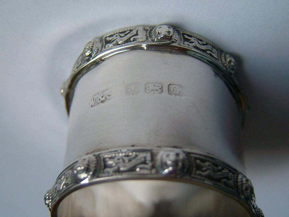 antiques atlas pair silver napkin rings wilson sharp