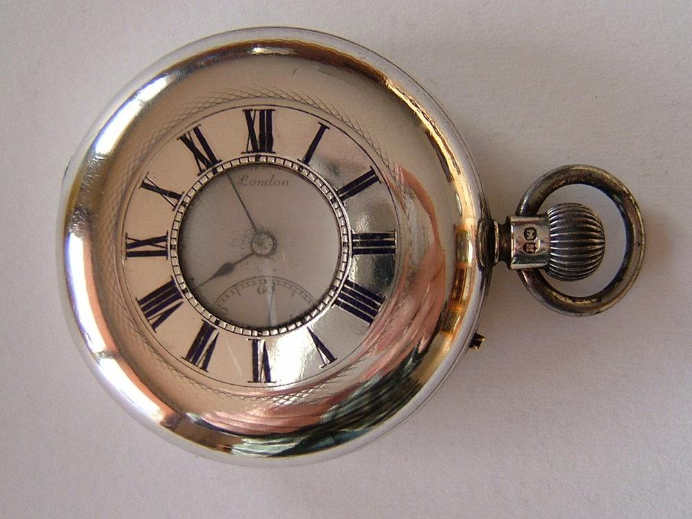 Antiques Atlas Silver Half Hunter Pocket Watch J W Benson