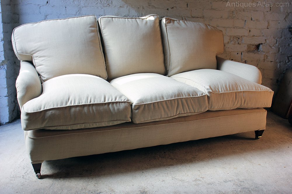 Good Quality Three Seater Howard Style Sofa C 1890