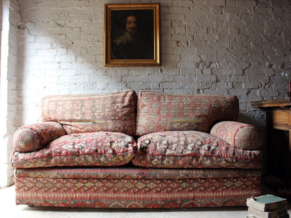 Quality Kilim Upholstered Sofa By George Smith Antiques