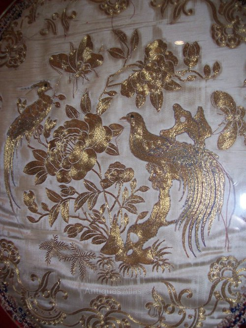 Antiques Atlas 18th C Gold Thread Embroidery