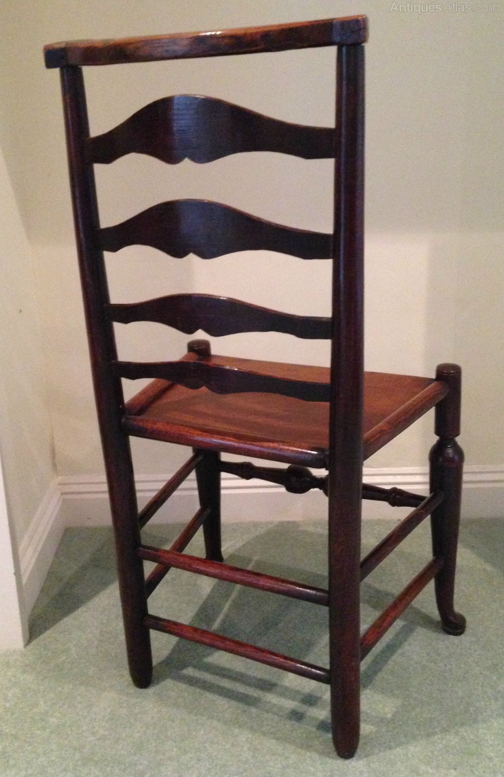 Rare 18th c ladderback chair antiques atlas Ladder back chairs
