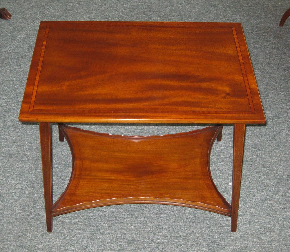 Pretty Edwardian Mahogany Coffee Table Antiques Atlas