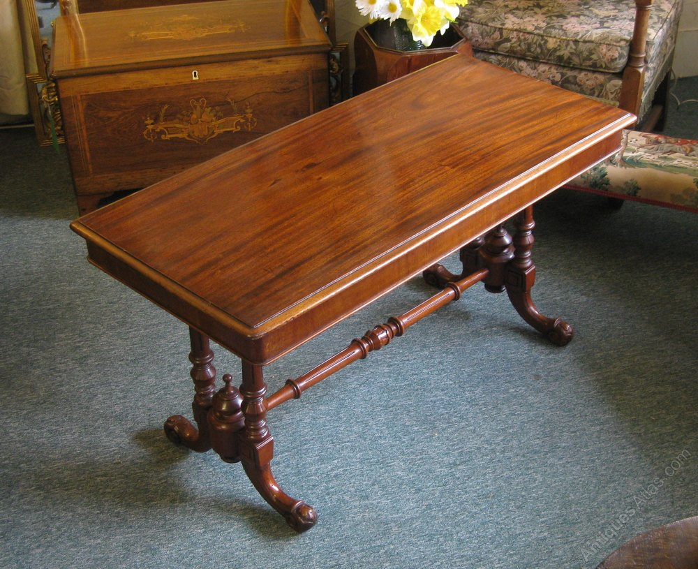 Victorian Golden And Solid Mahogany Coffee Table Antiques Atlas