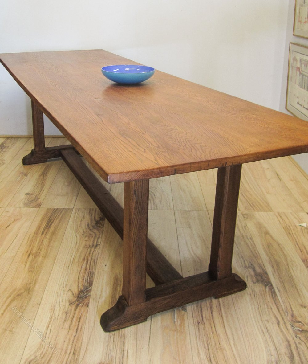 8ft Heals Oak Refectory Table  Antiques Atlas. Canopy Bed With Drawers. Old Teacher's Desk For Sale. Process Table. Rustic Counter Height Dining Table Sets. Desk That Goes Up And Down. Ergonomic Desks For Home. Folding Table Size. Plexiglass Table Top