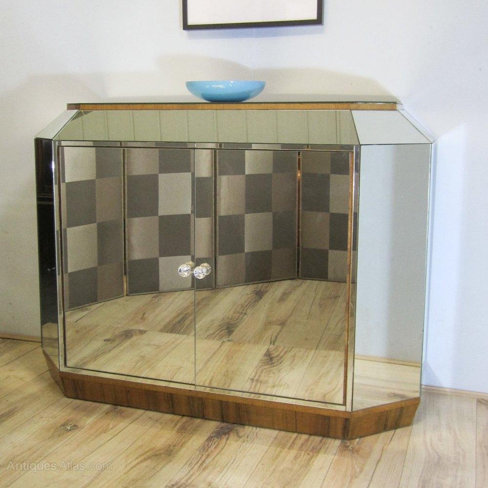 art deco mirrored sideboard antiques atlas. Black Bedroom Furniture Sets. Home Design Ideas