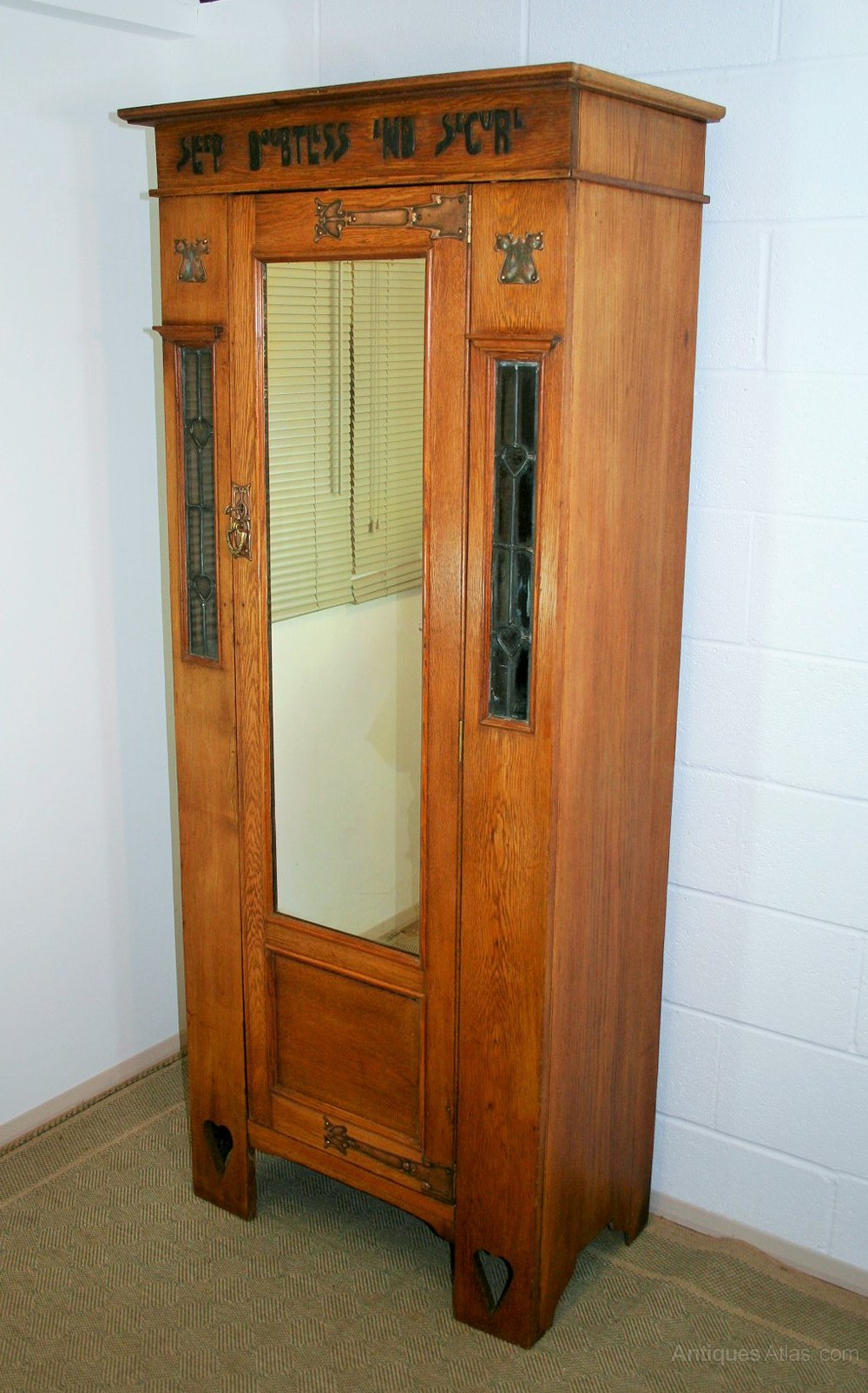 Vintage Cupboard With Glass