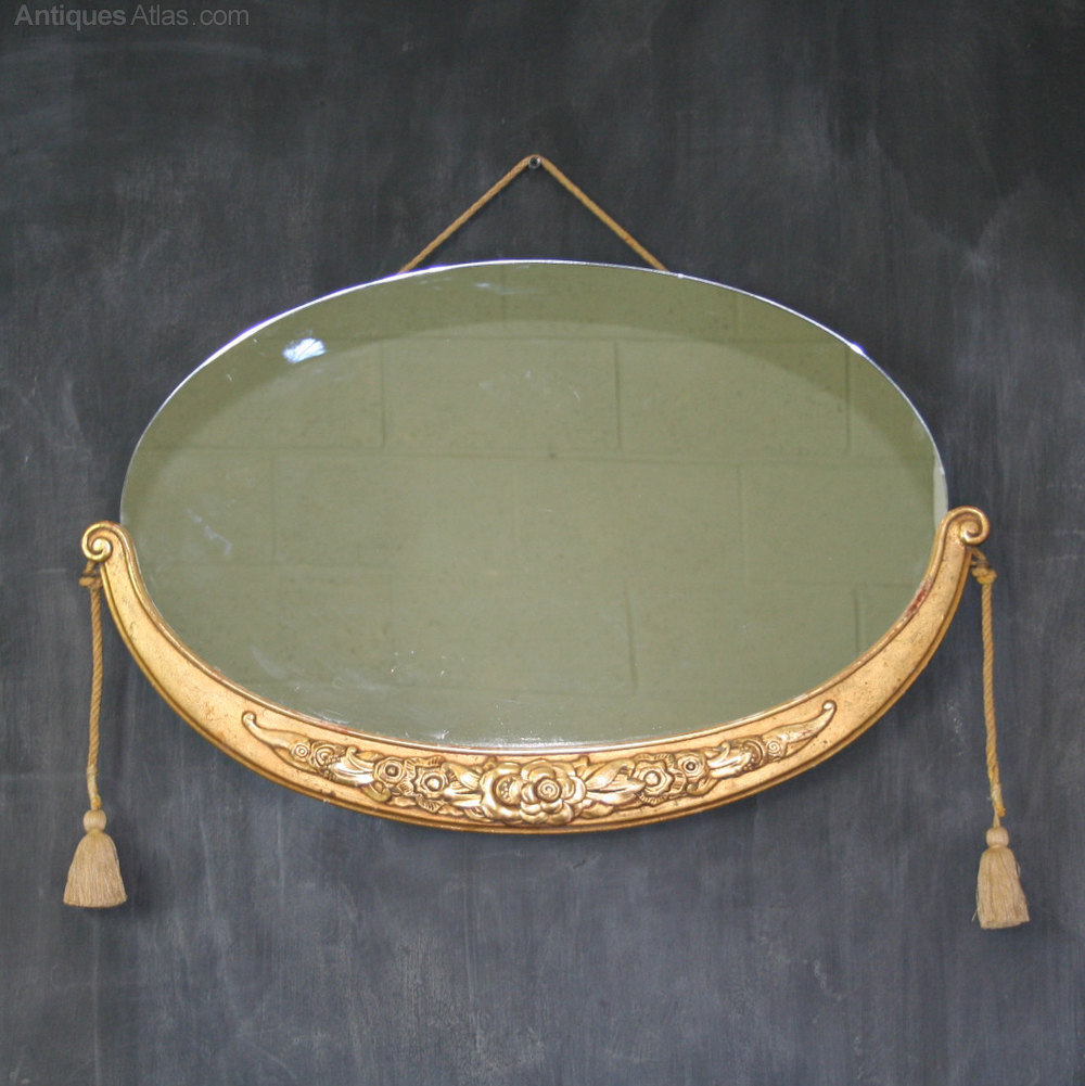Antiques Atlas French Art Deco Oval Mirror Style Of Sue
