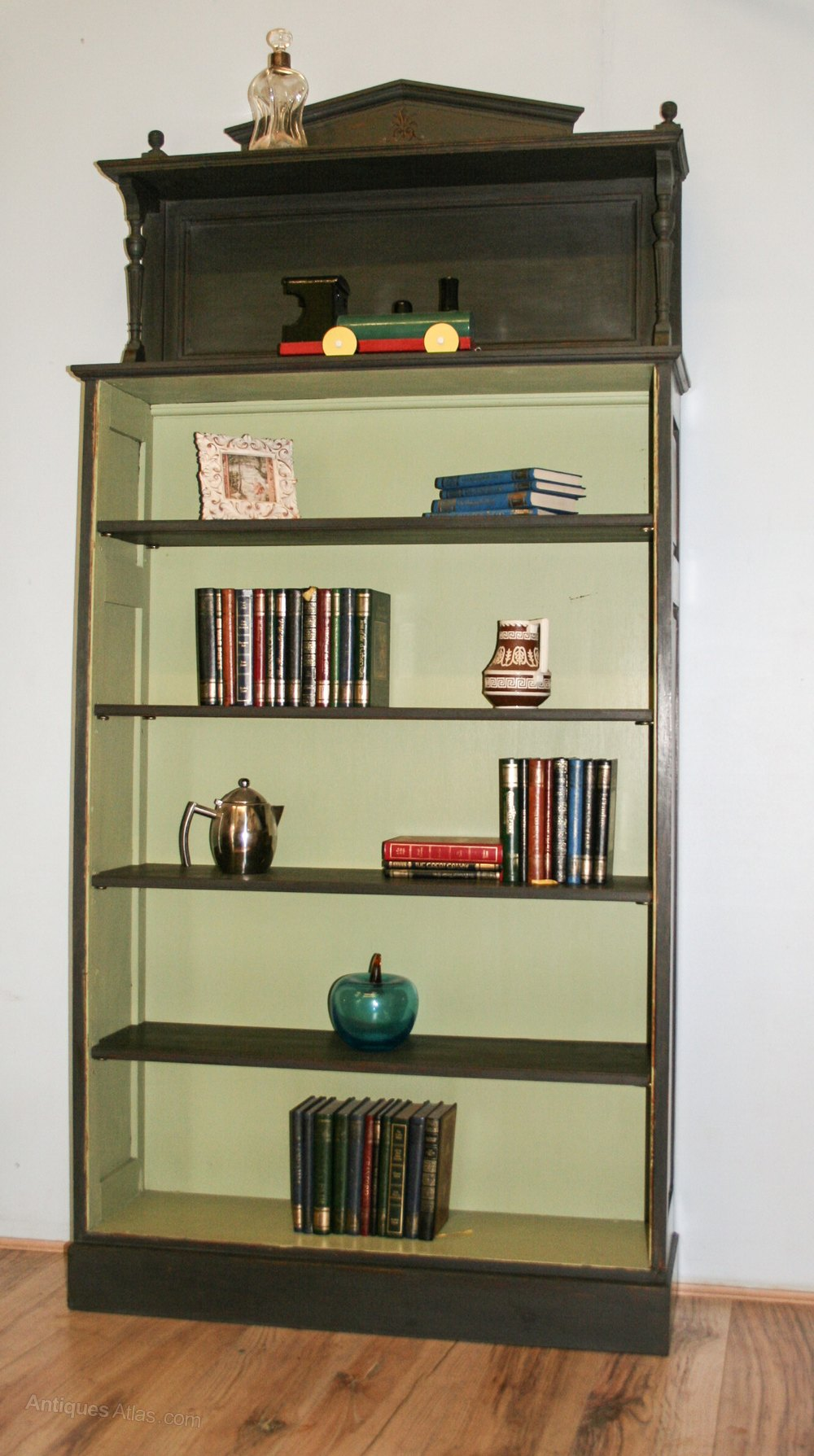 Vintage Painted Tall Bookcase Antiques Atlas