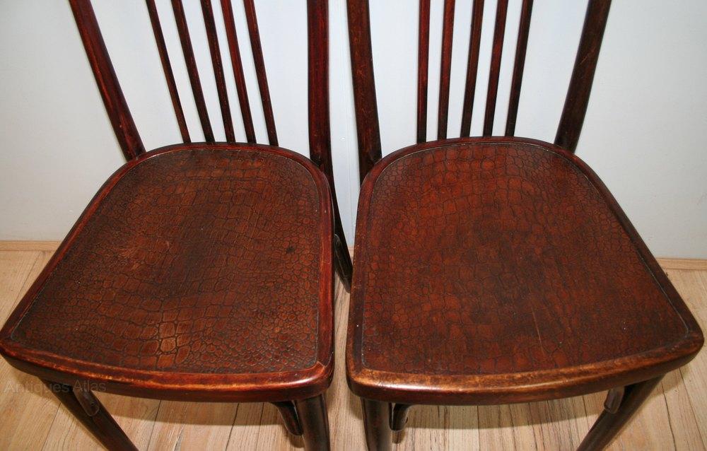 Pair Thonet Bentwood Chairs Att Josef Hoffmann Antiques Atlas
