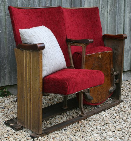 Antiques Atlas Pair Vintage Art Deco Cinema Seats