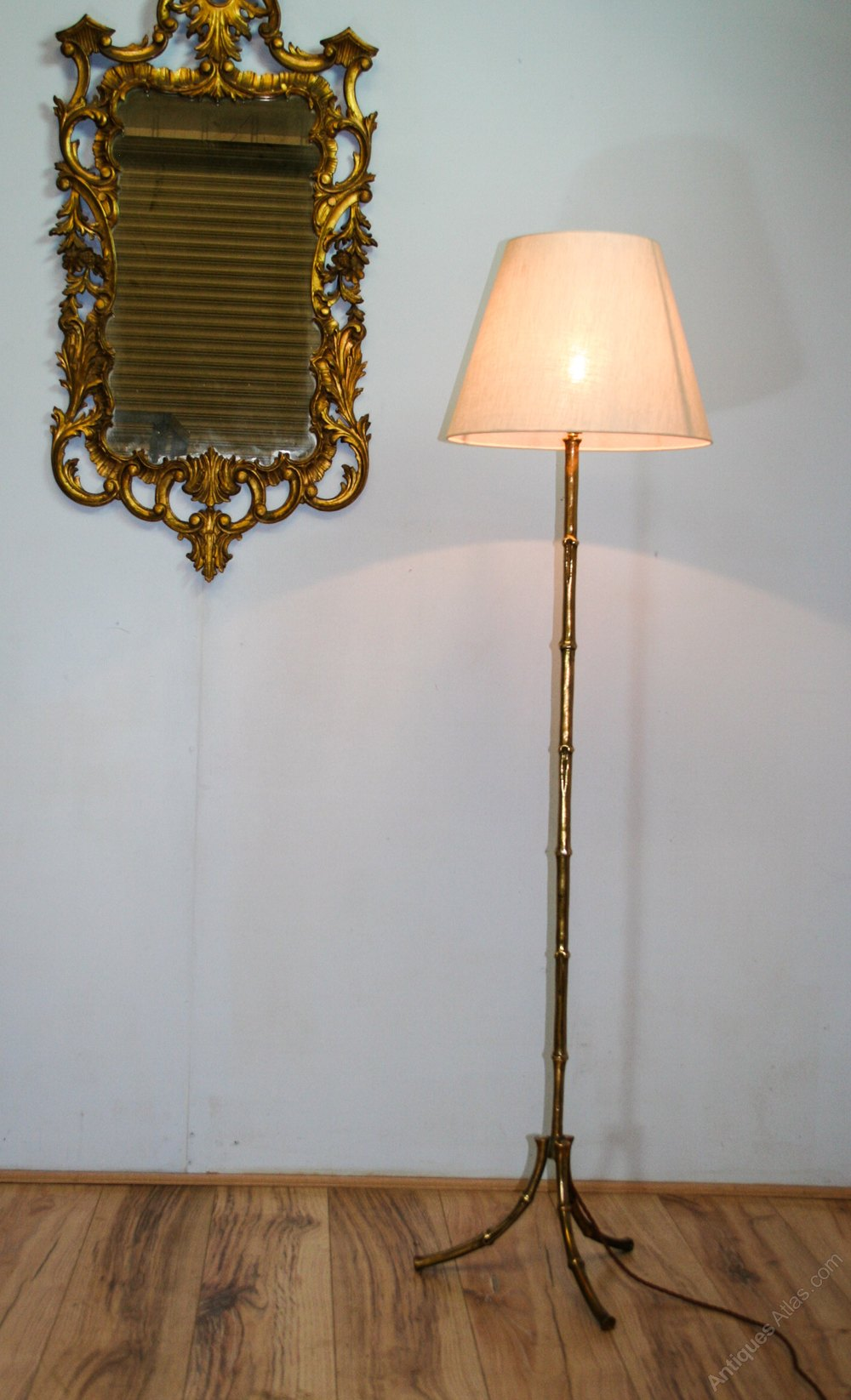Antiques Atlas Vintage 1960s Brass Bamboo Floor Lamp