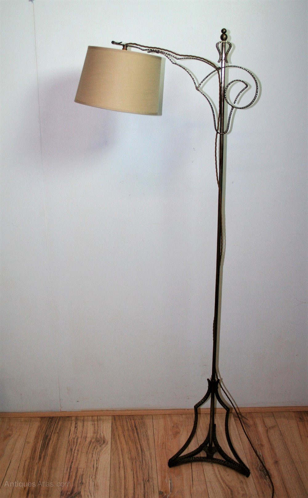 Antiques Atlas Vintage Wrought Iron Floor Lamp