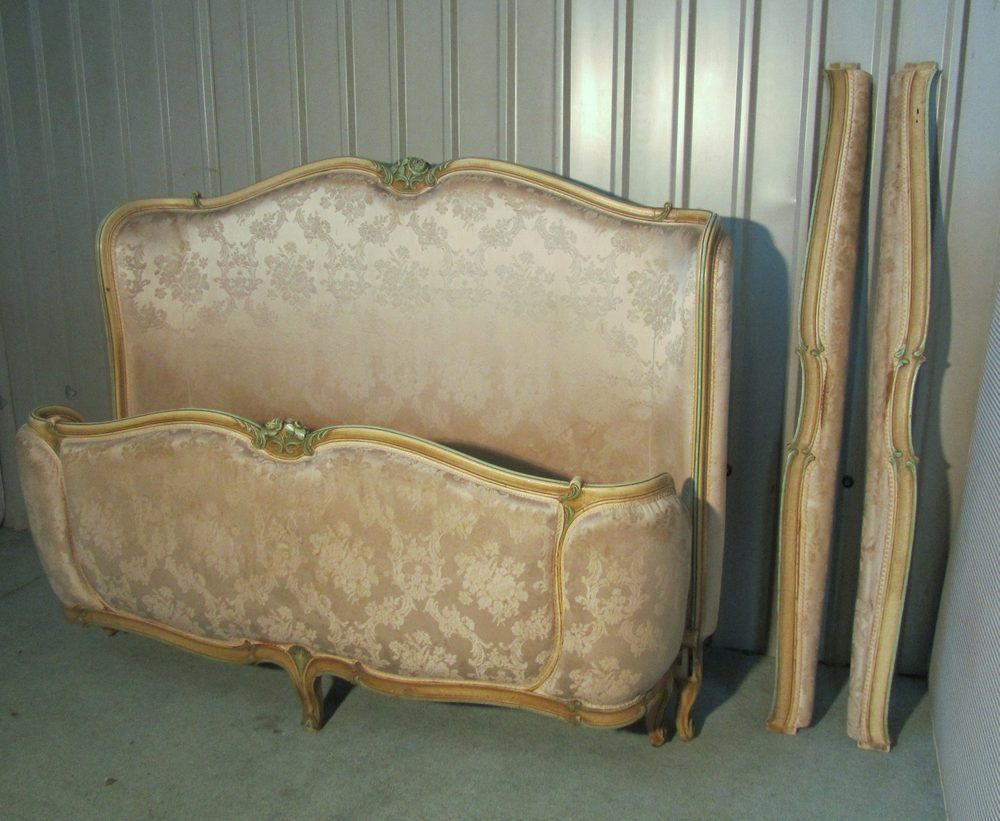 19th C French Corbielle Chateau King Double Bed Antiques