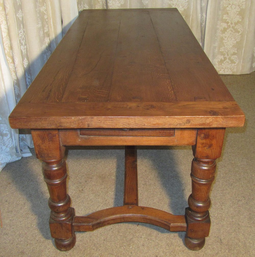 19th century french oak dining table antiques atlas for Oak dining table