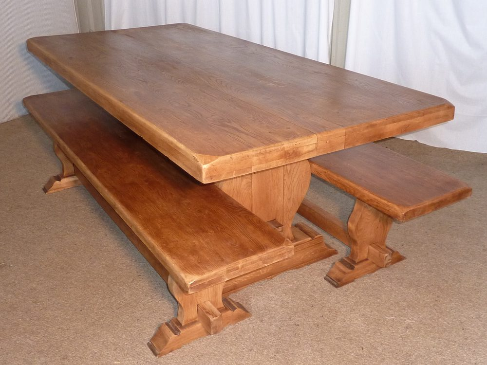 French Oak Refectory Table Amp Benches Antiques Atlas