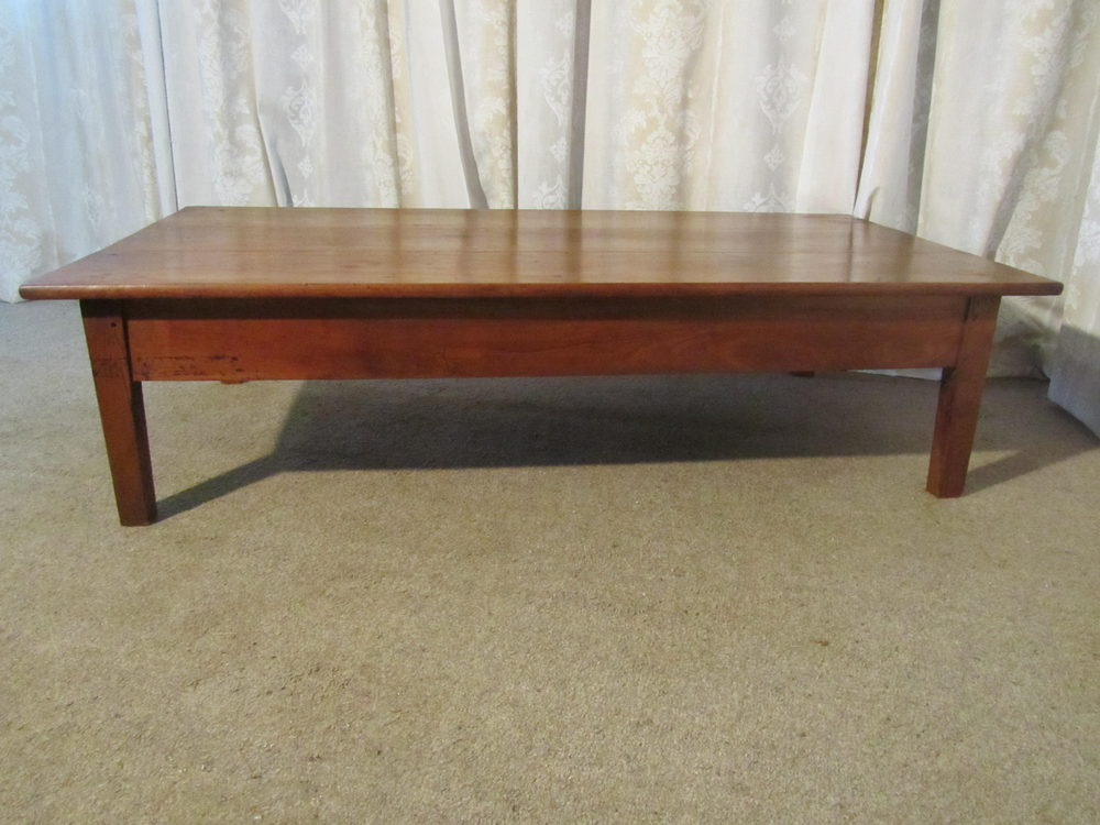 19th french cherry wood farmhouse coffee table antiques atlas Farmhouse coffee tables