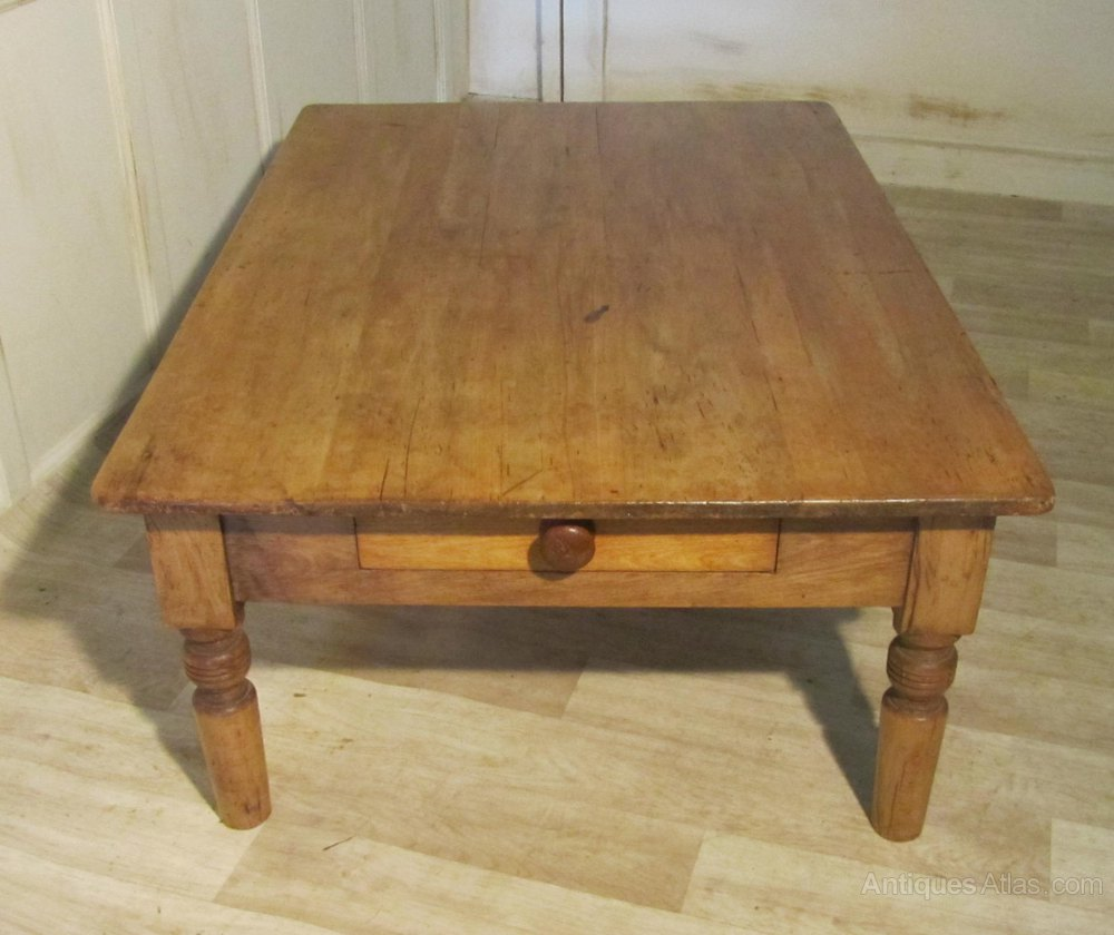 19th French Pine Farmhouse Coffee Table Antiques Atlas
