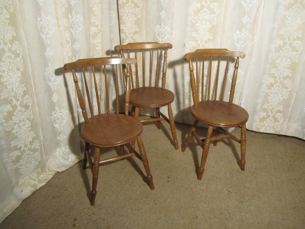 3 beech elm country kitchen dining chairs antiques atlas