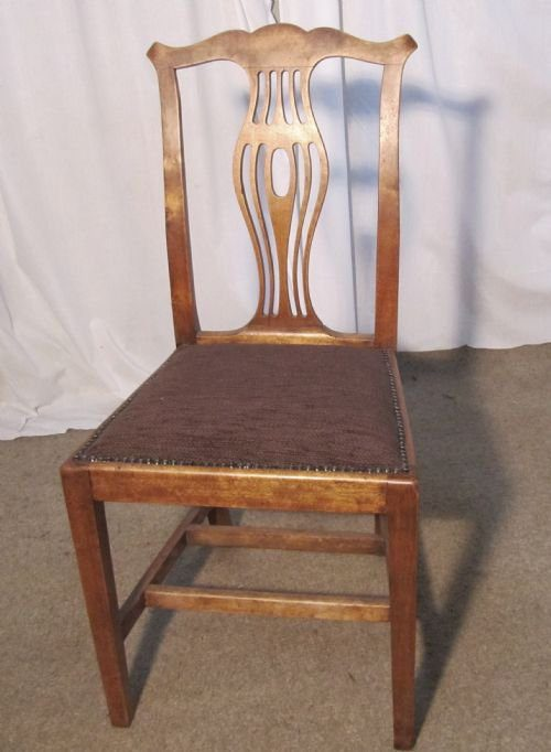 5 Victorian Chippendale Country Dining Chairs Antiques