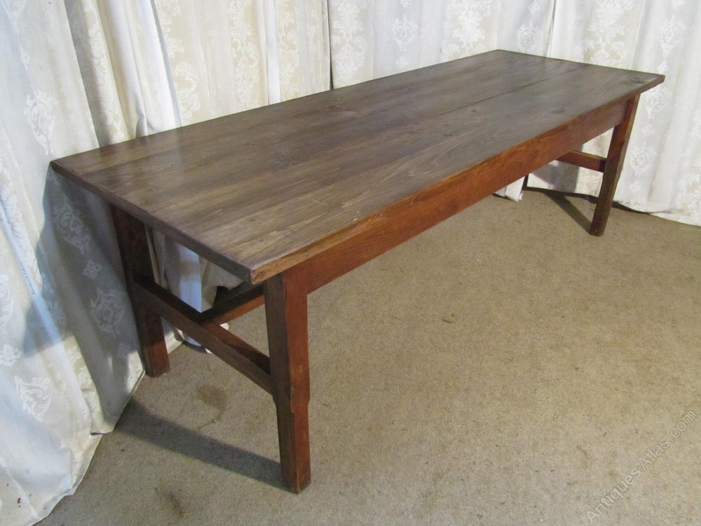 8ft French Elm Farmhouse Table And Benches Antiques Atlas