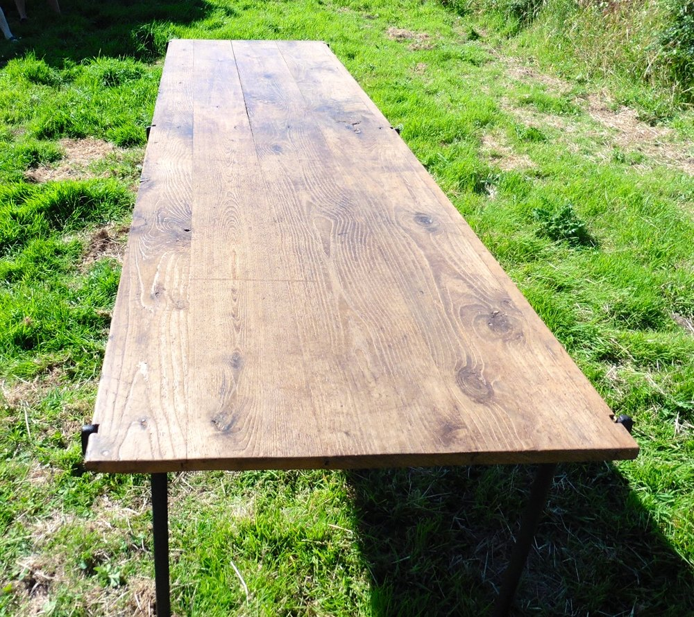 9ft elm harvest table from france picnic barbecue antiques atlas. Black Bedroom Furniture Sets. Home Design Ideas