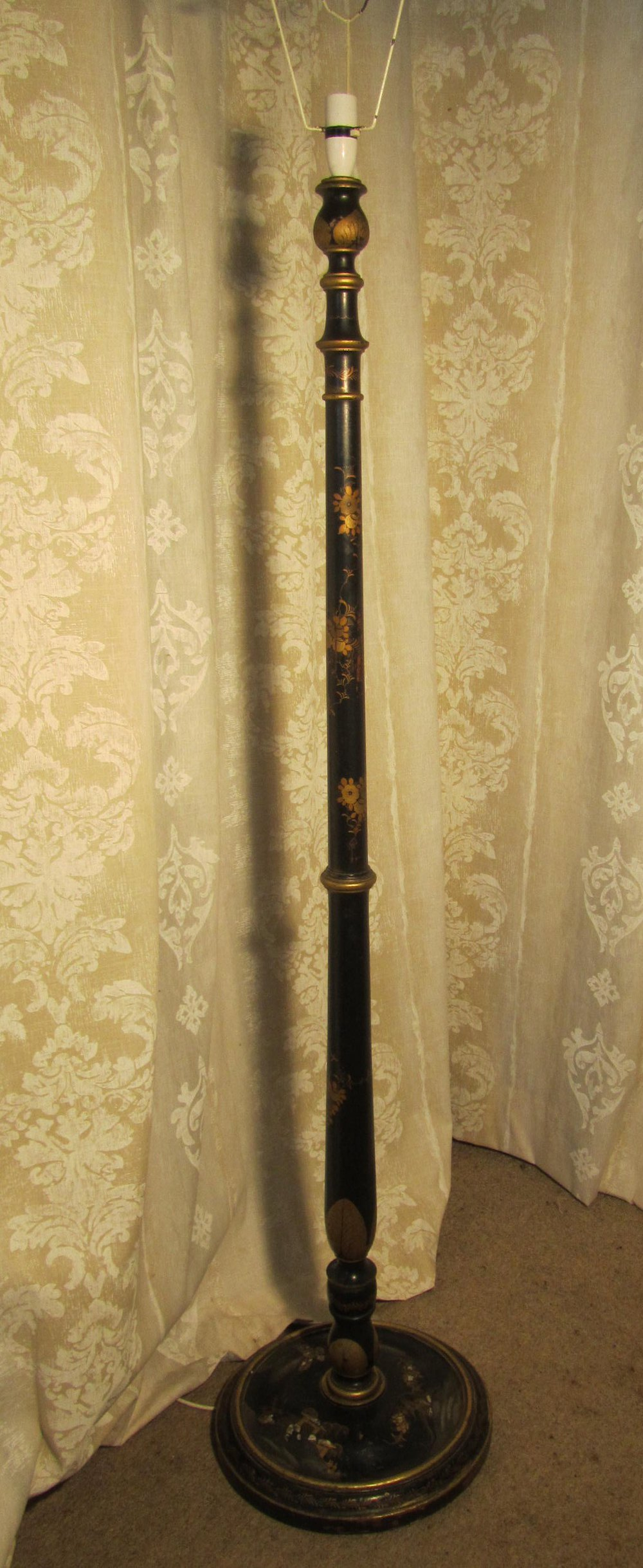 Antiques Atlas A Black Lacquer And Gold Floor Standing Lamp