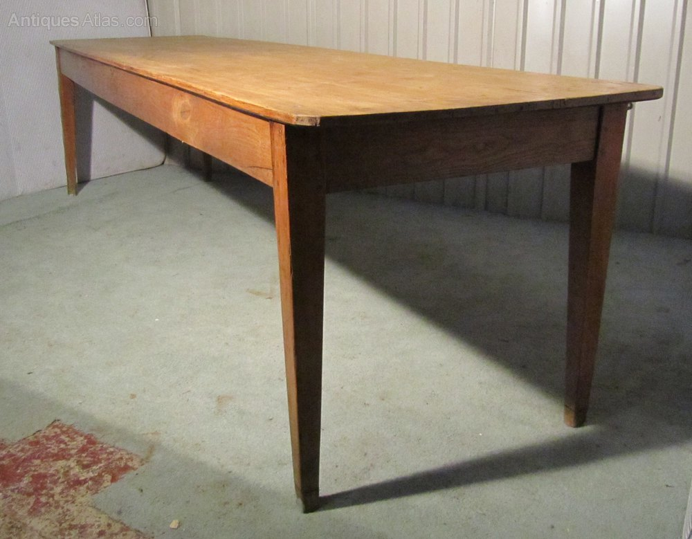 A large french pine farmhouse kitchen table antiques atlas for Large kitchen table