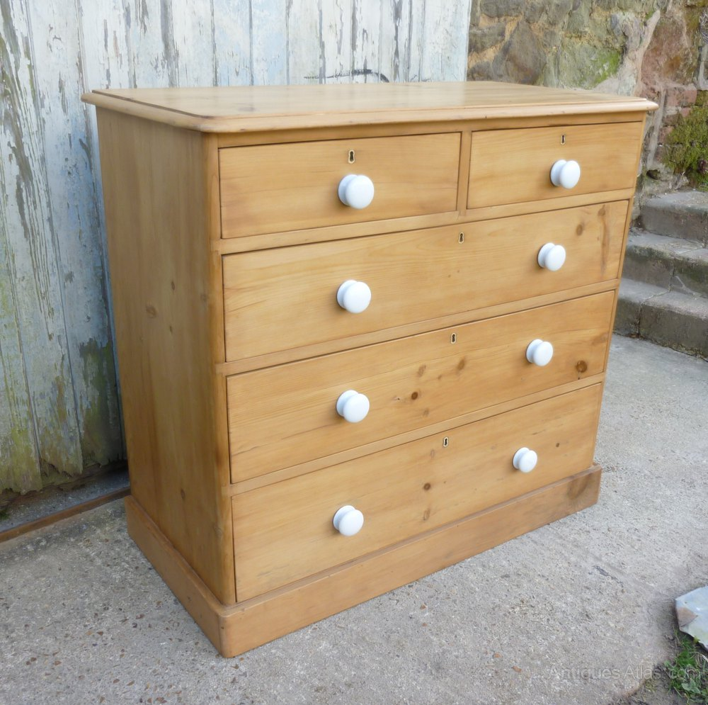 Pine Chest Of Drawers ~ A large victorian pine chest of drawers antiques atlas
