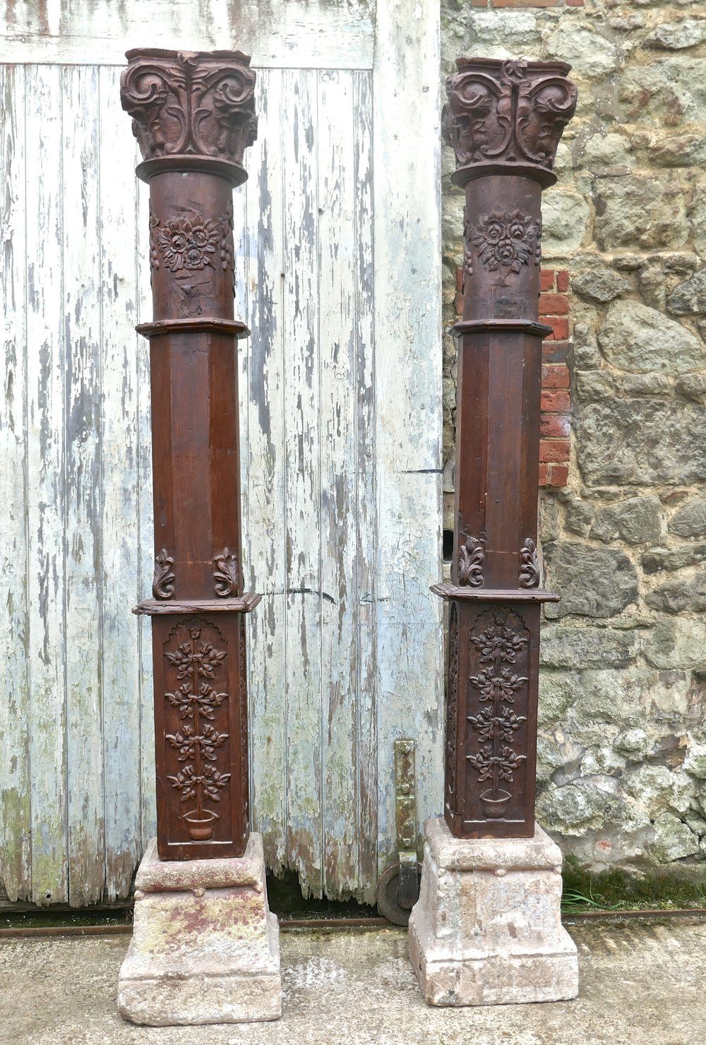 Antiques Atlas - A Pair Of Antique Gothic Oak Columns On ...