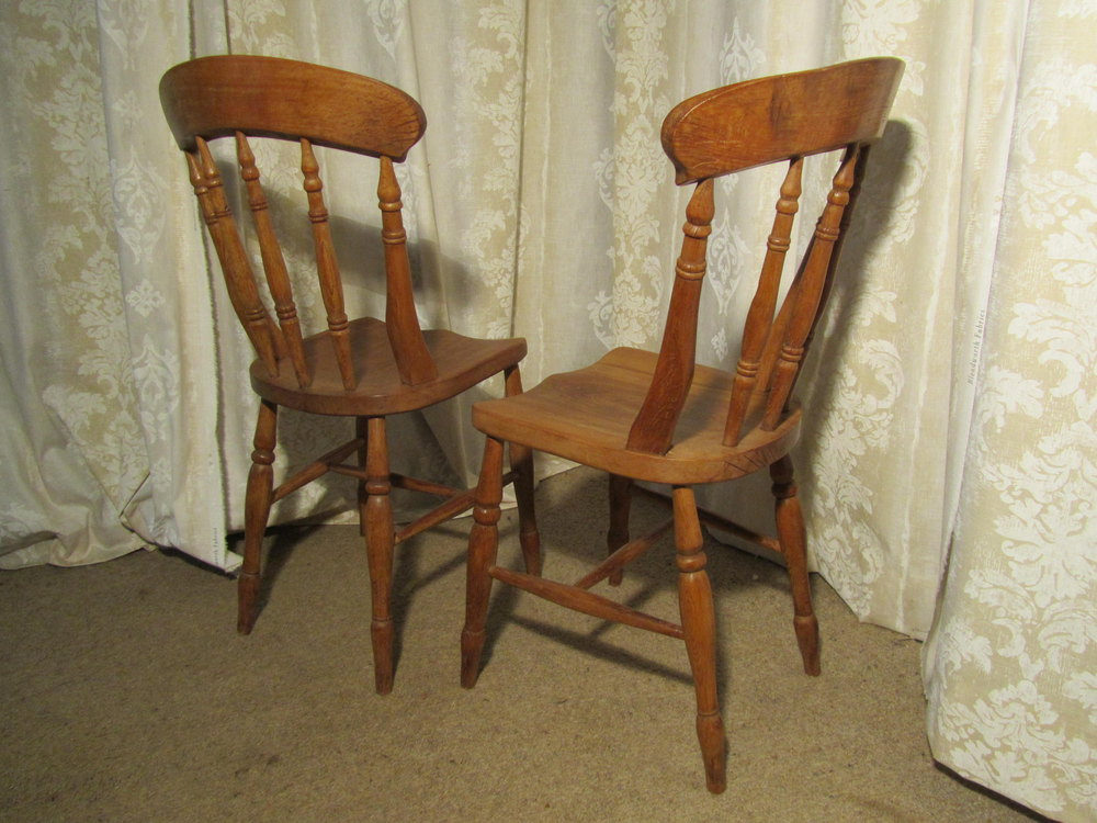 A Pair Of Beech Elm Country Kitchen Dining Chair Antiques Atlas
