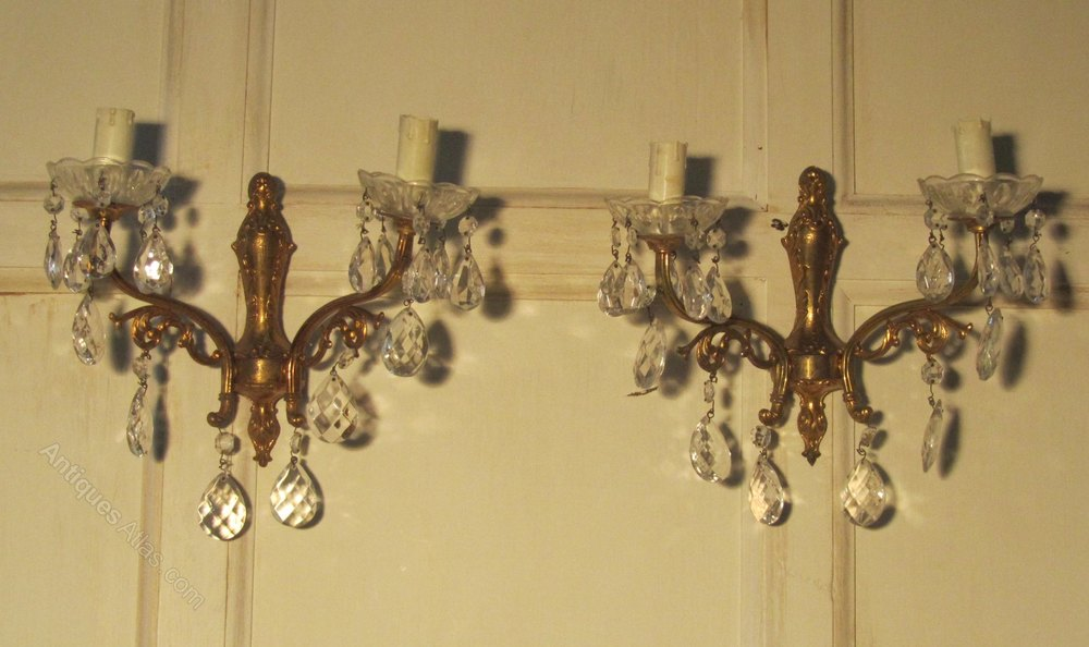 Antiques Atlas A Pair Of French Twin Wall Light Chandeliers