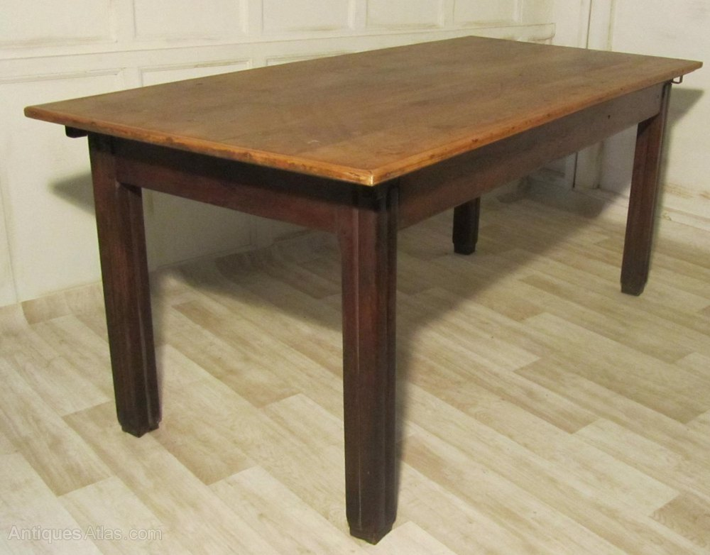 A rustic french elm kitchen table antiques atlas - Kitchen table rustic ...