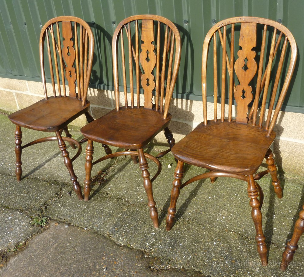 A Set 6 High Wycombe Windsor Country Dining Chairs Antiques Atlas