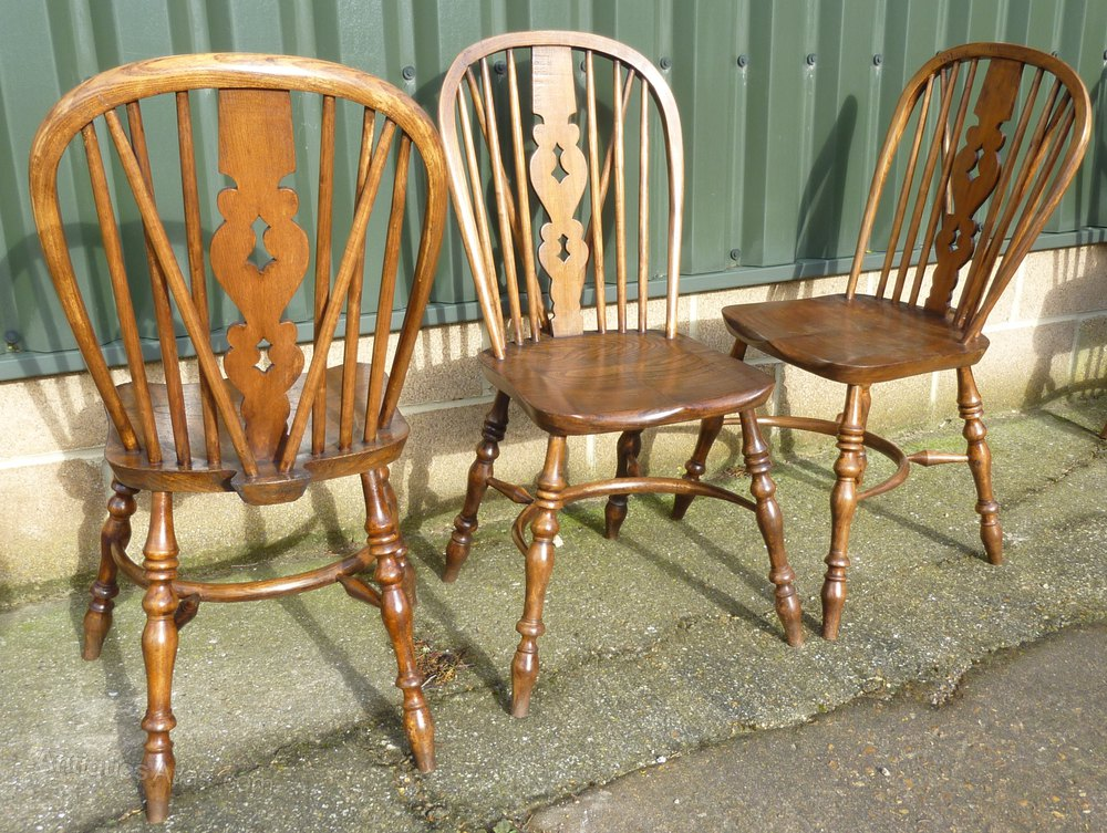 A set 6 high wycombe windsor country dining chairs for Furniture high wycombe