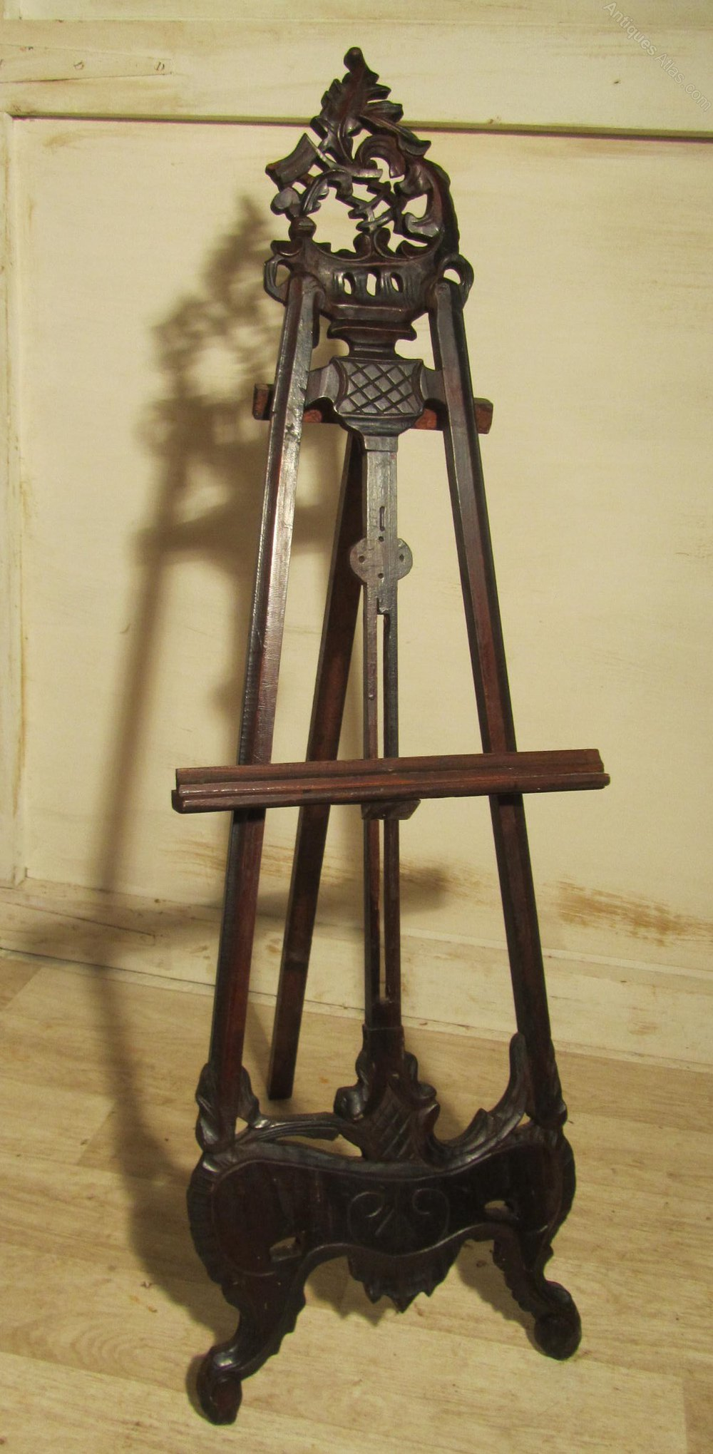 A Small Carved Mahogany Easel Antiques Atlas