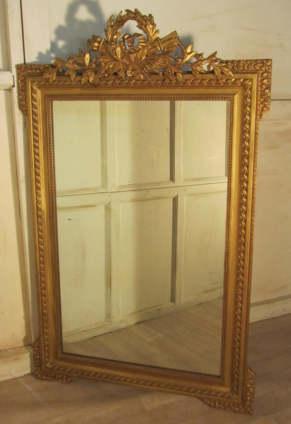 Antiques atlas a spectacular large french shabby gilt for French mirror
