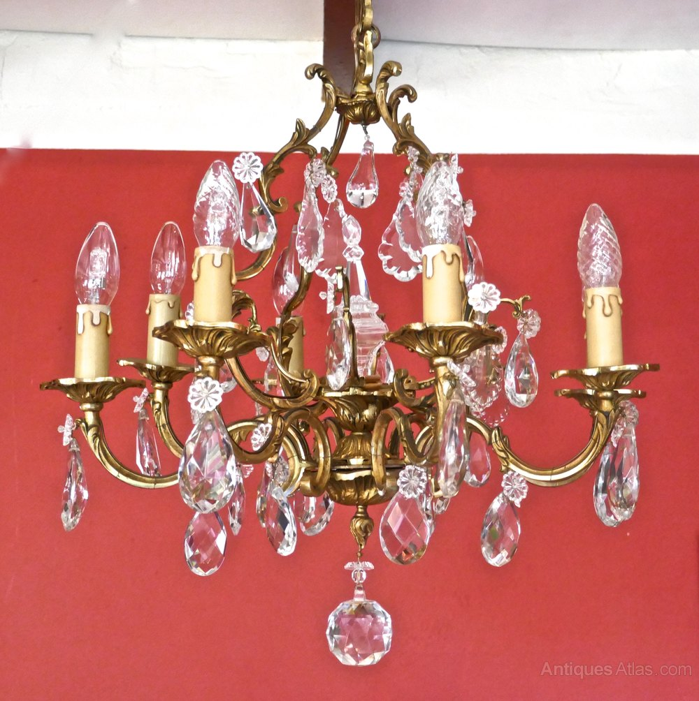 Antiques Atlas A Stunning Large 8 Branch Chandelier By