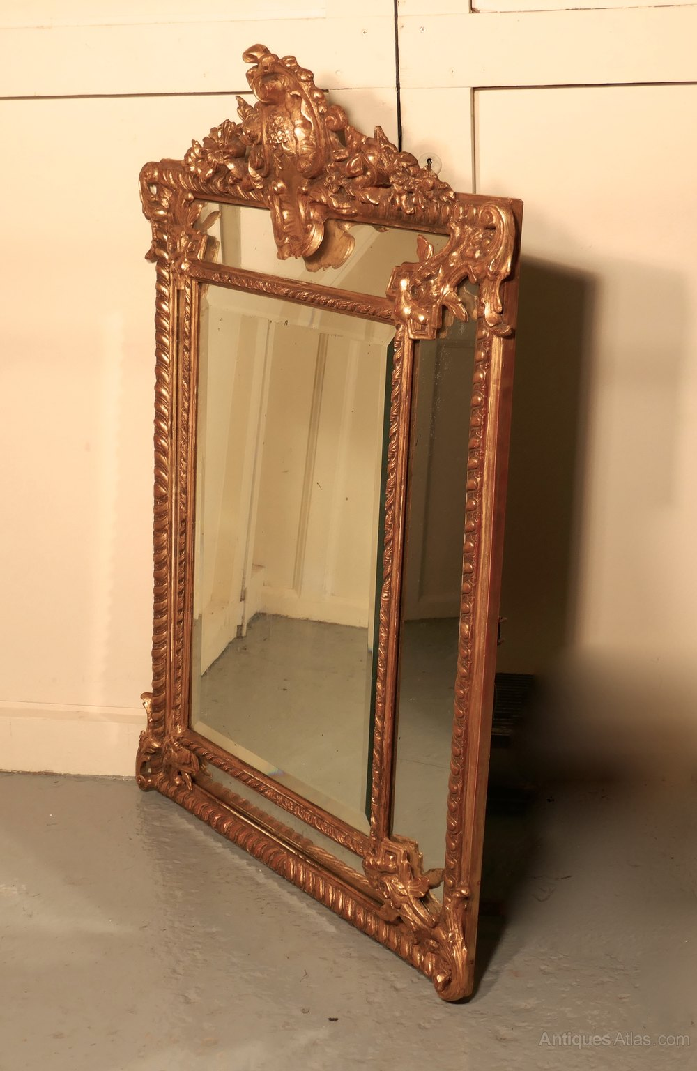 Antiques atlas a stunning napoleon iii french cushion mirror for Antique french mirror