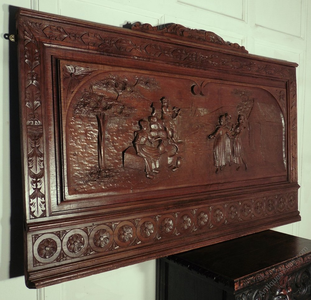Antiques atlas a superbly carved french oak panel